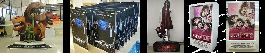 UV Flatbed Digital Printing   Standee – Cinema Standee – Standee Bioskop Corrugated Paper