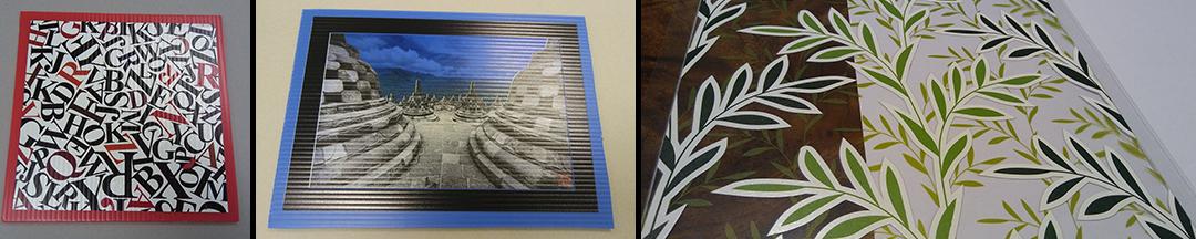 Digital Printing | Jasa Cetak  UV Flatbed – Bahan Transparan atau bahan berwarna (bukan putih) menggunakan white ink