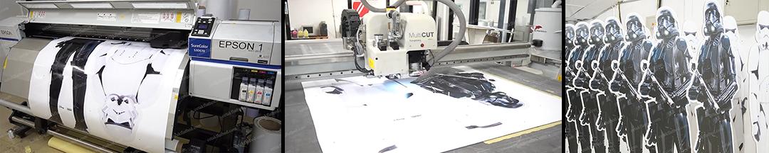 Digital Printing | Standee – Promosi Film Baru Corrugated Paper Standee
