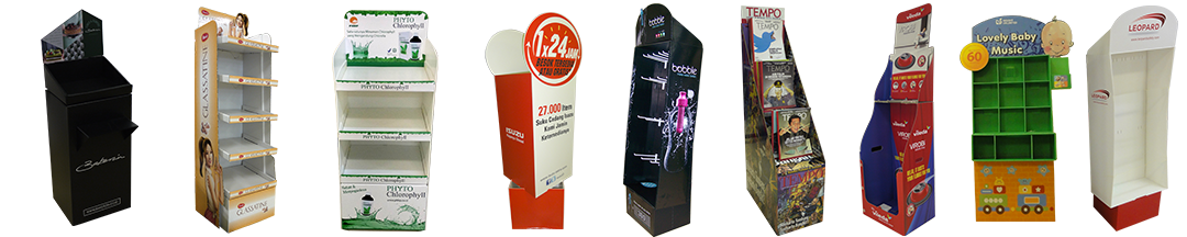 Digital Printing | Standee – Floor Standee / Rack Display / Dumbin / Advertisement Display Standee