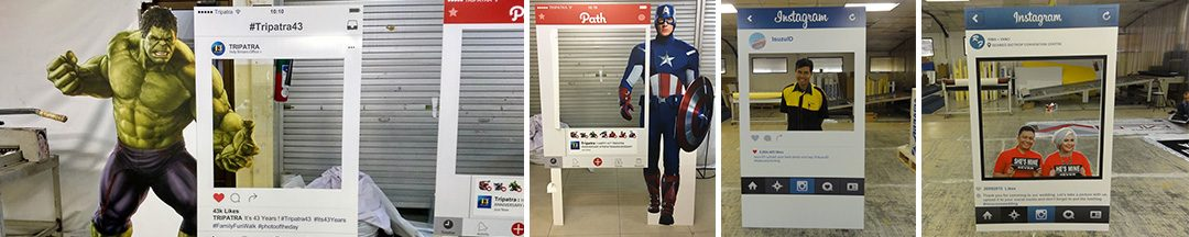 Digital Printing | Standee – Social Media Cut Out Standee (Instagram, Facebook, dll)
